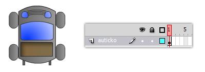 Auticko - ovladanie pohybu pomocou ActionScript 2