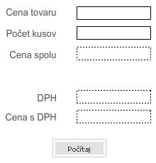 Tlačítko vo Flash formulári