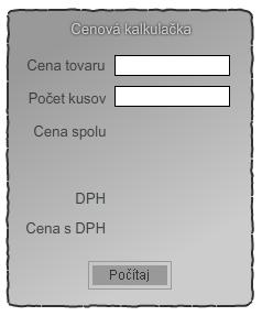 Flash formulár kalkulačka
