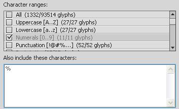 Pripojenie (Embed) znakov do Flash aplikácie